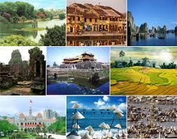 Phong cảnh các miền đất nước. Trang web của chính phủ Việt Nam.