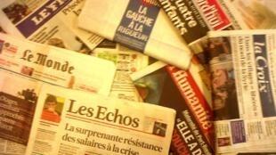 Capas dos diários franceses do dia 20 de Fevereiro de 2013