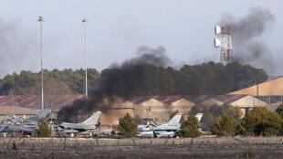 Caça F-16 cai na Espanha em acidente com dez vítimas fatais