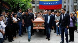 Une cérémonie en hommage à Fernando Alban a eu lieu dans l'enceinte de l'Assemblée nationale vénézuélienne, le 9 octobre 2018.