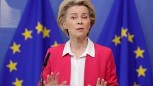European Commission President Ursula von der Leyen presents the EU's new migration pact on 23 September.