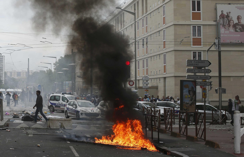 Biểu tình gây bạo động tại Sarcelles, ngoại ô Paris, ngày20/07/2014