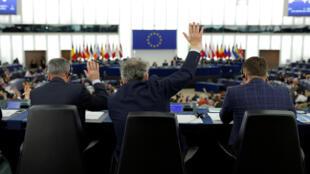 Les députés européens lors d'une session de vote à Strasbourg, le 14 février 2017.