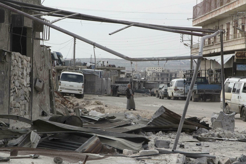 Кафр Хамра близ Алеппо - место авиаудара 27 февраля 2016