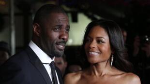 Les acteurs Idris Elba et Naomie Harris lors de l'avant première de film le 5 décembre 2013.