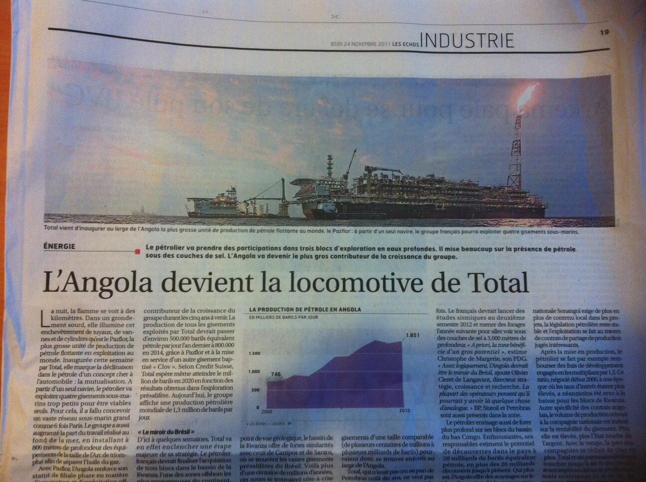 Les Echos destaca que a companhia petrolífera francesa Total imita a Petrobras.