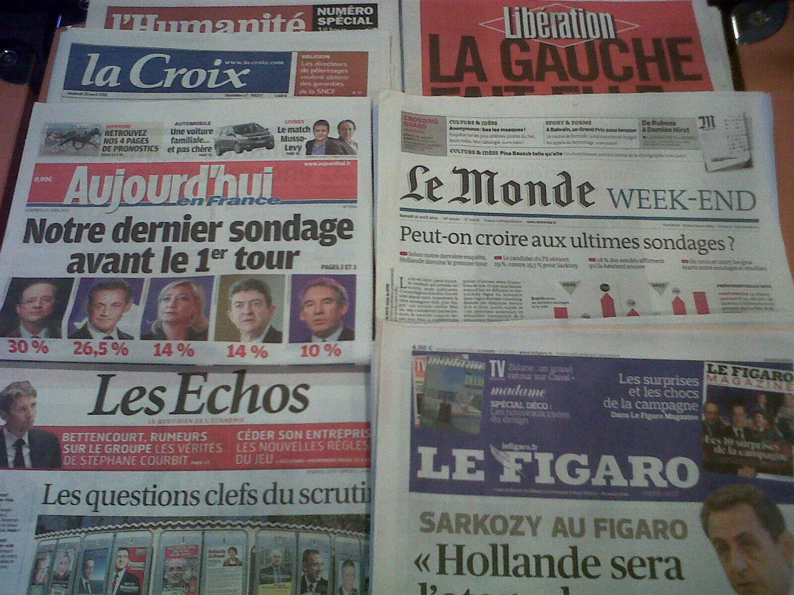 Diários franceses 20/04/2012
