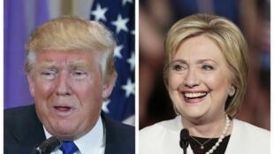 Donald Trump (g.) et Hillary Clinton ont distancé leurs adversaires ce 1er mars 2016.