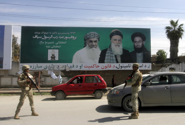 La campagne électorale se déroule dans un climat d'insécurité et de violences. Ici à Jalalabad, le 3 avril 2014