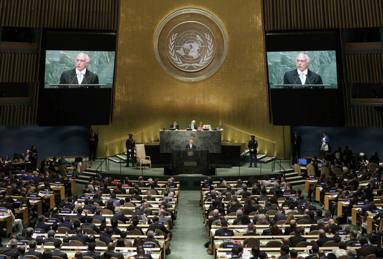 Várias delegações deixam plenário durante fala de Temer na ONU.