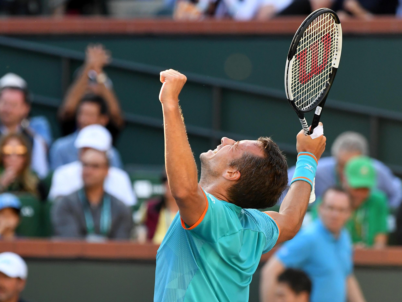 Philipp Kohlschreiber last beat Novak Djokovic in 2009 at the French Open in Paris.