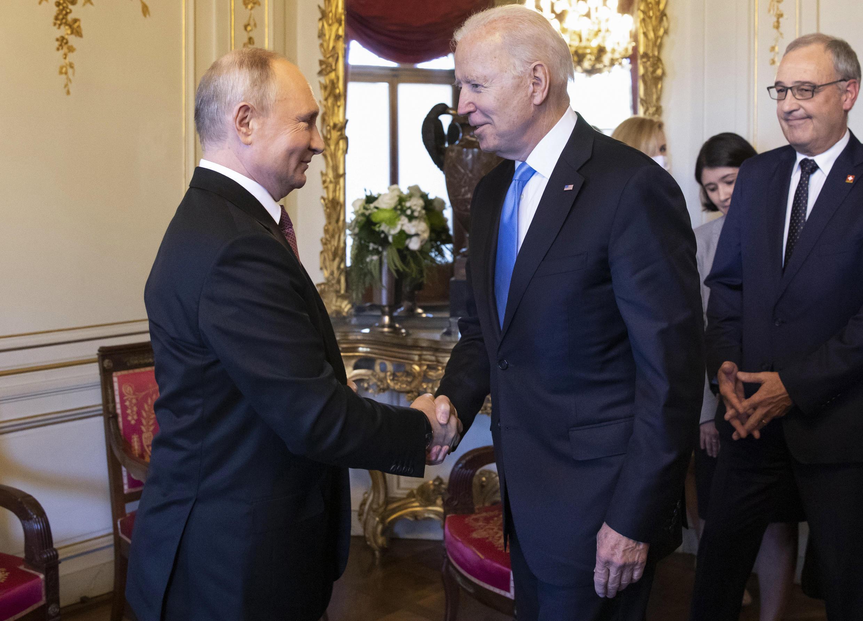 2021年6月16日俄羅斯總統普京和美國總統拜登在日內瓦首次會面
