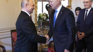 2021年6月16日俄罗斯总统普京和美国总统拜登在日内瓦首次会面