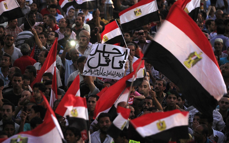 Манифестанты на площади Тахрир в Каире требуют отсавки президента Мурси