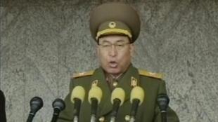 General norte-coreano Ri Yong em foto do dia 4 de março de 2012.