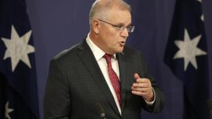 澳大利亞總理莫里森呼籲七國集團和世界貿易組織阻止中國經濟脅迫行為。