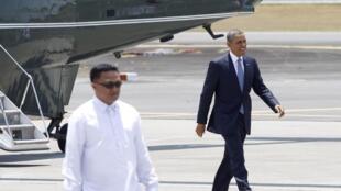 Tổng thống Mỹ kết thúc vòng công du Châu Â, chuẩn bị rời Manila. Ảnh ngày 29/04/2014.