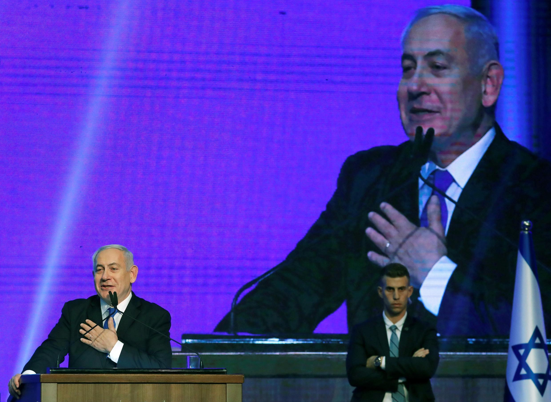 Waziri Mkuu wa Israeli Benjamin Netanyahu aahidi wafuasi wa chama cha Likud kuwa watapata 'ushindi mkubwa katika uchaguzi ujao'. (picha ya kumukumbu)