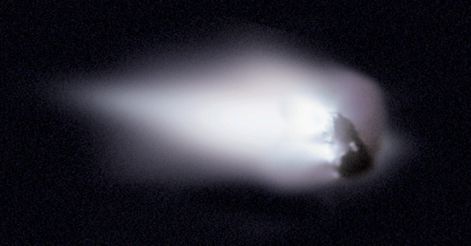 """Comet Halley as photographed by ESA spacecraft """"Giotto"""" in 1986"""