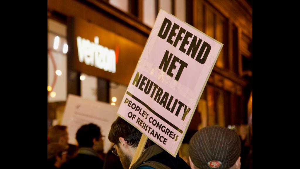 Une manifestation pour défendre la neutralité du net (Image d'illustration).