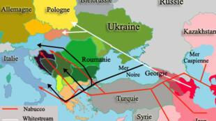 Hệ thống đường ống dẫn khí đốt đổ về châu Âu