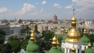 Vue de Kiev depuis la cathédrale Sainte Sophie.