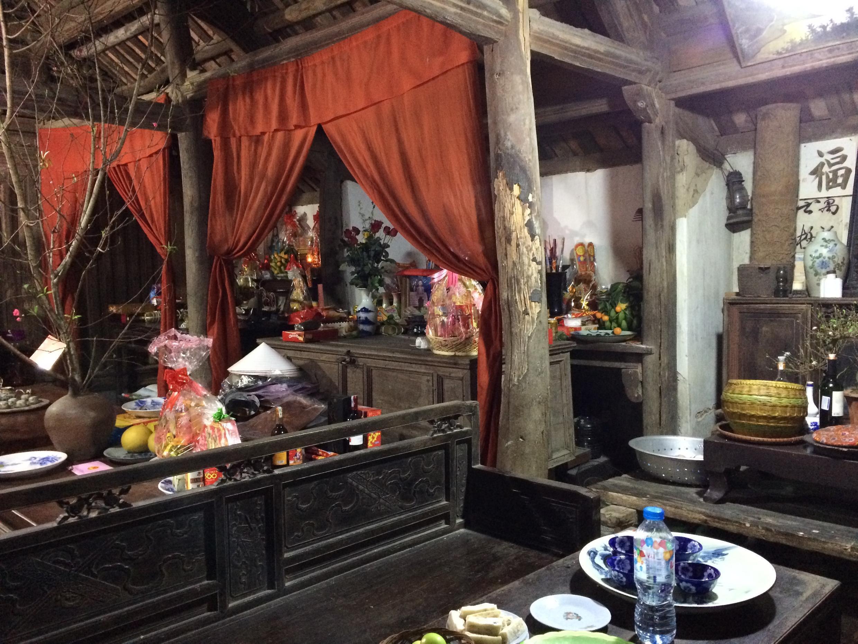 Ngôi nhà cổ nhất Đường Lâm được xây năm 1649, thôn Mông Phụ, Đường Lâm, Sơn Tây.