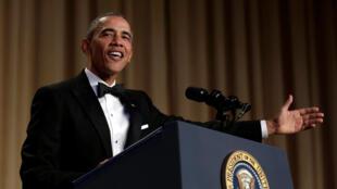Tổng thống Mỹ Barack Obama đọc diễn văn trong buổi tiệc hàng năm tại Nhà Trắng - Washington, ngày 30/04/2016 016.