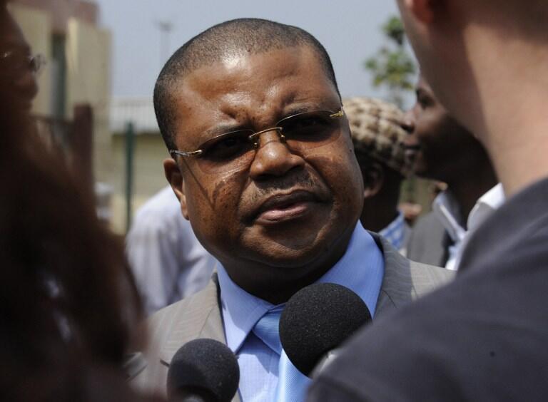 Nicolas Tiangaye, le 7 janvier 2013, à l'aéroport de Bangui.