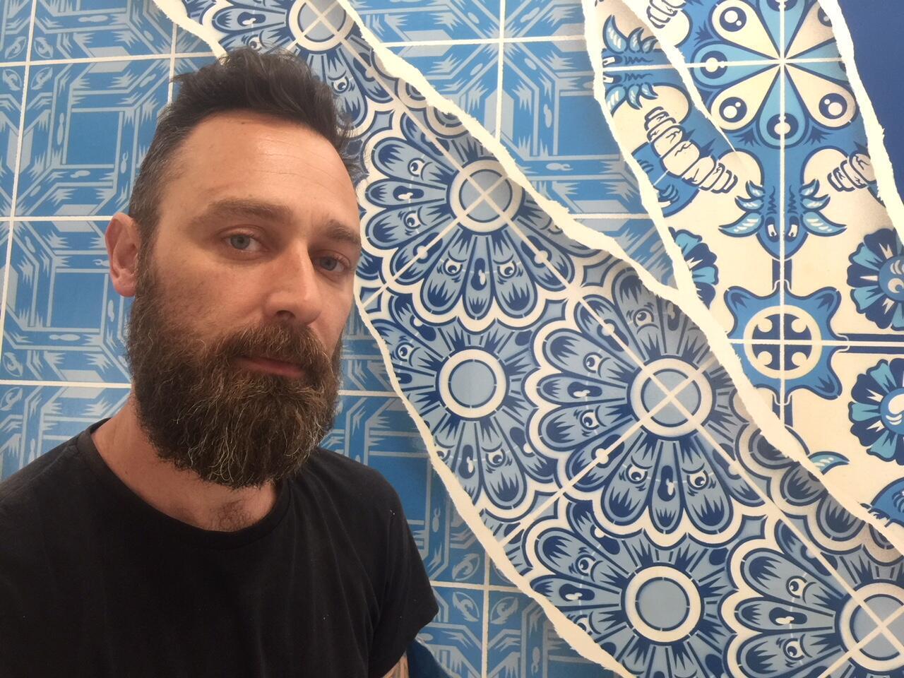 """Diogo Machado, conhecido como """"Add Fuel"""". Galerie Itinerrance, Paris. 08 de Abril de 2019."""