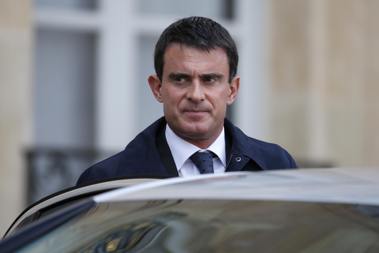 El primer ministro socialista Manuel Valls, París, 13 de octubre de 2014.