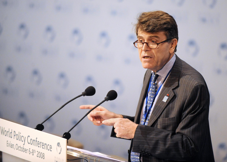 Thierry de Montbrial, l'un des créateurs de l'Ifri, à Évian (France), le 6 octobre 2008.