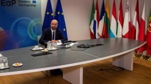 Le nouveau Conseil européen se tiendra ce vendredi 19 juin en vidéoconférence. Ici, le président du Conseil européen, Charles Michel, à Bruxelles, le 18 juin 2020.
