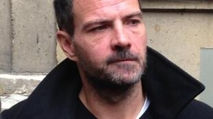Jerome Kerviel at Paris' administrative court to protest against a generous tax break awarded to his former bank Societe Generale. October 15, 2015
