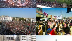 Manigestações da Primavera Árabe em vários países.