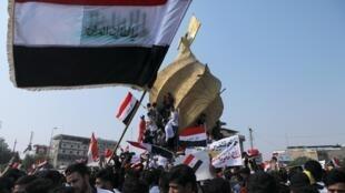 تظاهرات دانشجویان عراقی علیه فساد