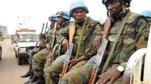 Des casques bleus de la Minuss à Juba, le 31 août 2016 (photo d'illustration).