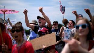 تظاهرات مردم واشنگتن
