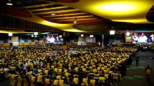 Des membres et des délégués de l'ANC lors de la conférence nationale du parti le 16 décembre 2017.