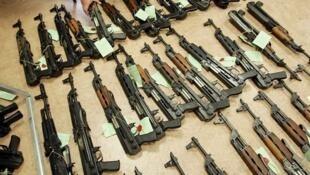 Склад оружия, захваченный в Тулоне (архив)