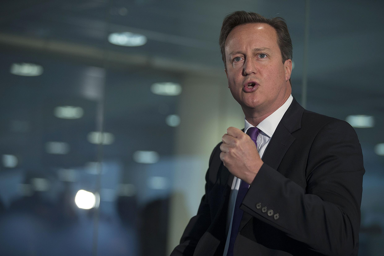 英国首相卡梅伦9月10日在苏格兰为反对独立造势