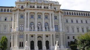Le palais de justice à Vienne, en Autriche.