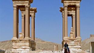 Khu Tetrapylon trong quần thể di tích cổ Palmyra, Syria.