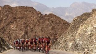 Le peloton du Tour d'Oman en 2017.