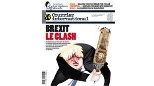 La Une de Courrier international «Brexit, the clash». La presse britannique se déchire après cette semaine mouvementé à Londres.