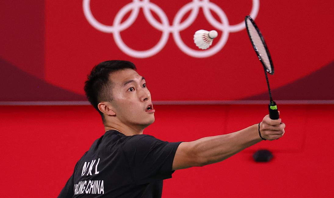 香港羽毛球選手伍家朗參加東京奧運會比賽資料圖片