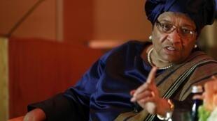 Rais wa Liberia Ellen Johnson-Sirleaf, Mei 17, 2013.