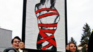 Manifestación en Varsovia para defender el derecho al aborto, en octubre de 2016.
