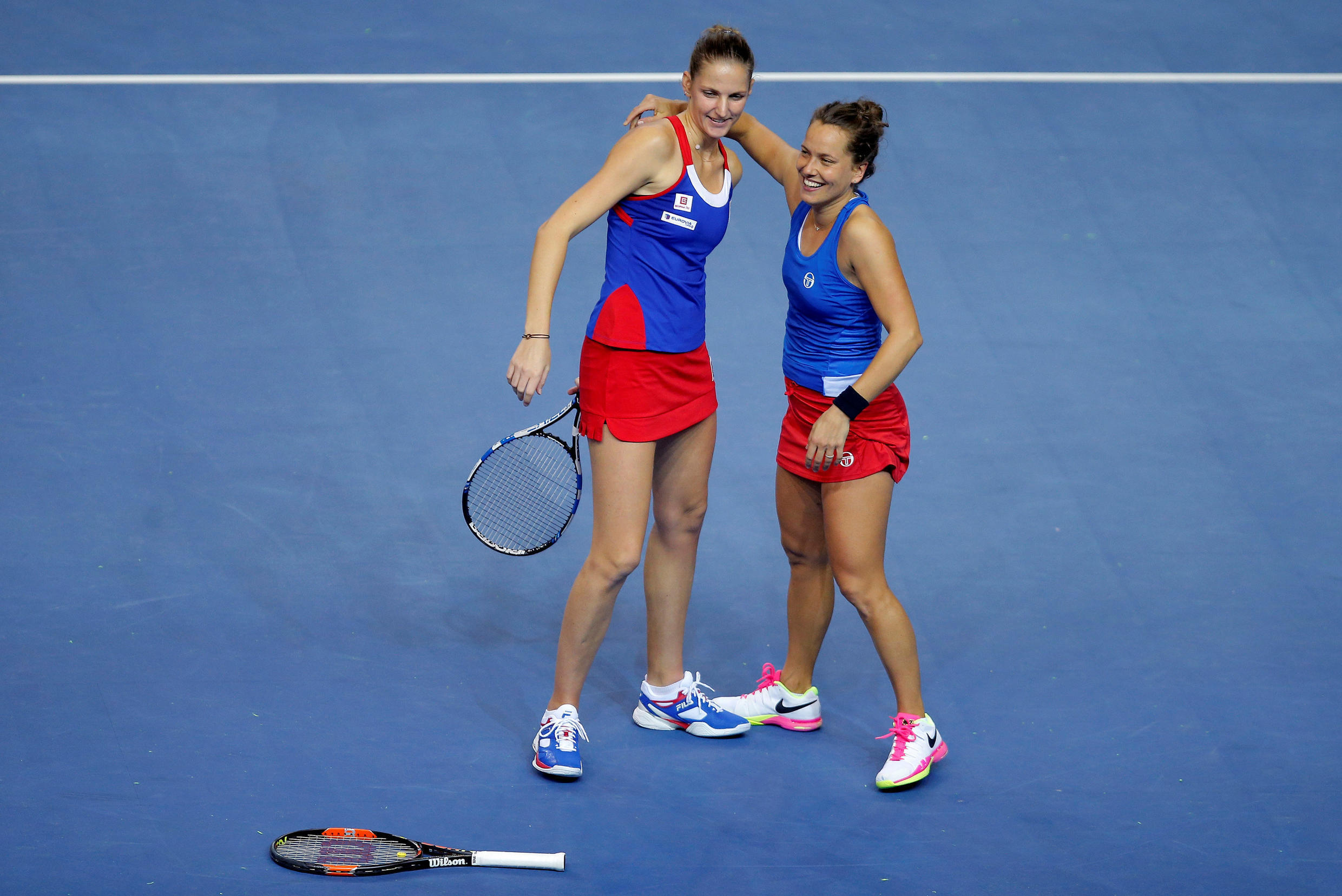 Karolina Pliskova and Barbora Strycova gained the decisive point to give the Czech Republic the 2016 Fed Cup