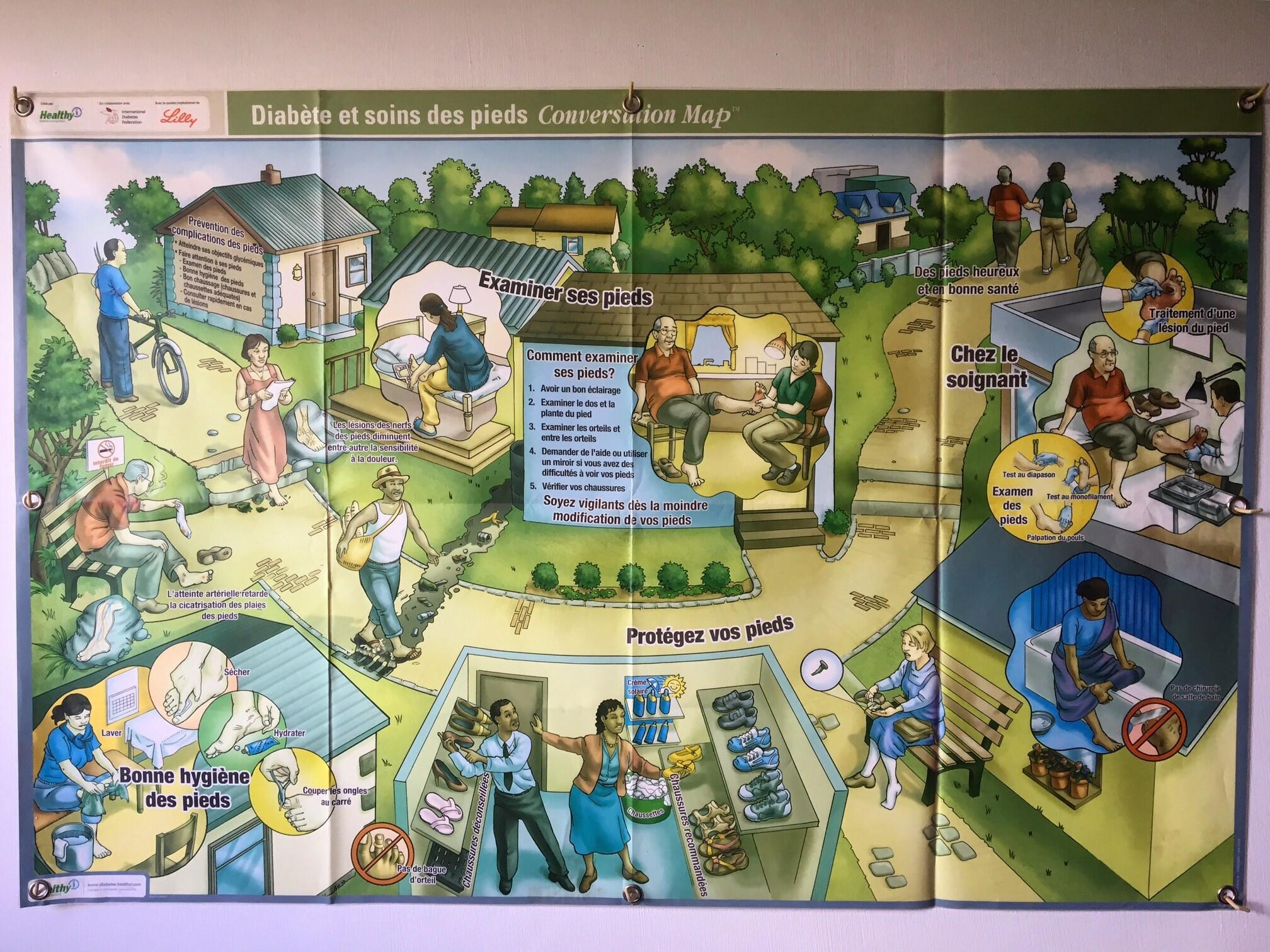 Affiche du centre de soins pour diabétiques de l'association APSA